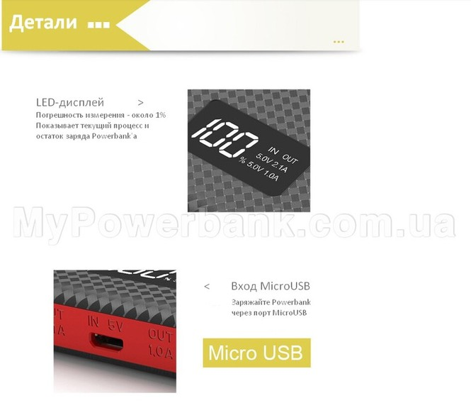 Powerbank Pineng 963 - характеристики